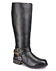 Legroom Chain Detail Boot Curvy Plus E