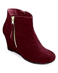Sole Diva Wedge Ankle Boot EEE Fit