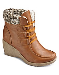 Natures Own Wedge Ankle Boot EEE Fit