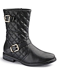 Sole Diva Quilted Biker Boot EEE Fit