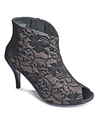 Sole Diva Peep Toe Shoe Boot E fit