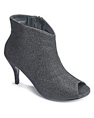 Sole Diva Peep Toe Shoe Boot EEE fit