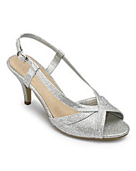 Sole Diva Glitter Shoes EEE Fit