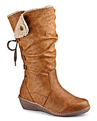 Relife Hi Leg Wedge Boots Curvy Calf E