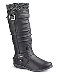 Relife Hi Leg Boot Super Curvy EEE Fit