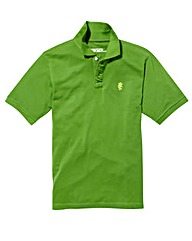 Jacamo Green Embroidered Polo Long