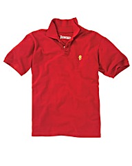 Jacamo Red Embroidered Polo Regular