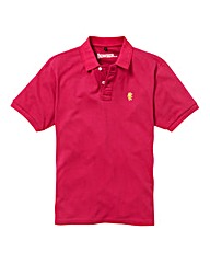 Jacamo Pink Embroidered Polo Regular