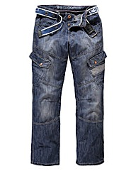 Crosshatch Cargo Jean 29In Leg Length