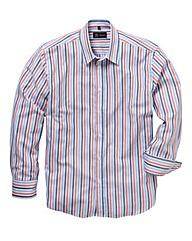 Black Label By Jacamo Stripe Shirt Reg