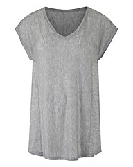 Grey Marl - V-neck T-shirt