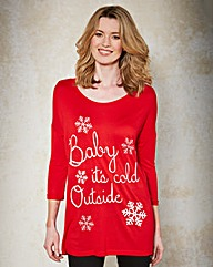 Red Long Sleeve Christmas T-shirt