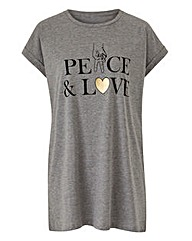 Peace & Love Logo T-Shirt
