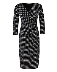 Grace Polka Dot Print Midi Dress