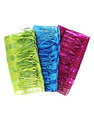 Set Of 3 Foil Stripe Scarves