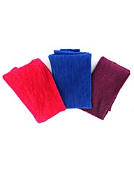 Set Of 3 Pleated Scarves
