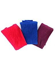 Set Of 3 Pleated Scarves