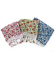 Set Of 3 Double Sided Scarves