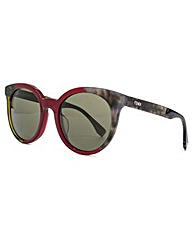 Fendi 3 Tone Flared Round Sunglasses