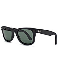Ray-Ban Leather Wayfarer Sunglasses