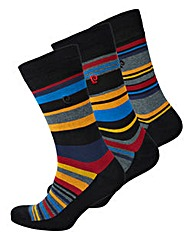 Pierre Cardin Pack of 3 Stripe Socks