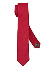 Kensington Skinny Wine Plain Tie