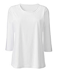 Cotton Jersey Top With Neckline Detail
