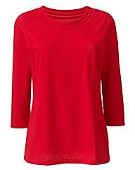 Cotton Jersey Top With Neckline Detail