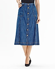 Denim Casual Skirt Length 27in