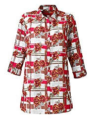 Exclusive Printed Rose Check Blouse