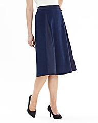 Mock Suede Skirt Length 27in