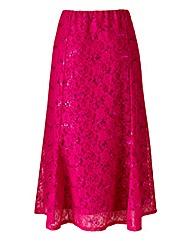 Sequin Lace Detail Skirt Length 29