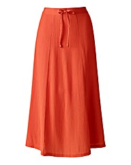 Plain Pull On Crinlke Skirt Length 27ins