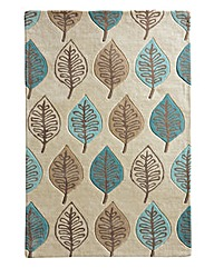 Modern Leaf Wool Rug