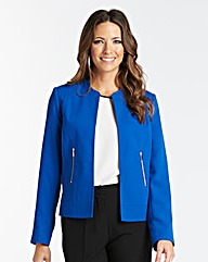 Tailored Crepe Jacket with Zip Detail
