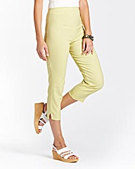 Gingham Pull-On Capri Trousers Length 21