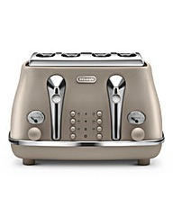 Delonghi Elements 4 Slice Beige Toaster