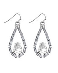 Mood crystal open teardrop earring