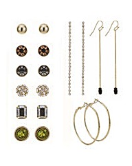 Mood Stud and drop mixed earring pack