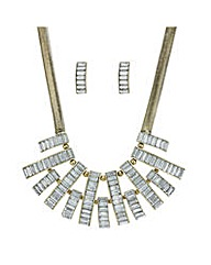 Mood bar necklace and earring set