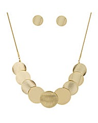 Mood disc necklace and earring set