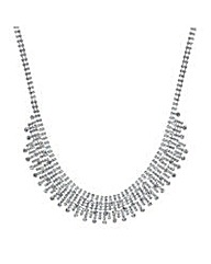 Mood Crystal stick collar necklace