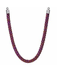 Mood Metallic purple bead necklace