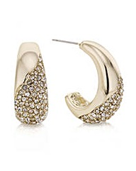 Mood Gold pave half hoop earring