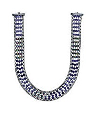 Mood purple crystal collar necklace