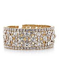 Mood Gold crystal open cuff bracelet
