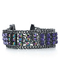 Mood Tonal purple crystal bracelet