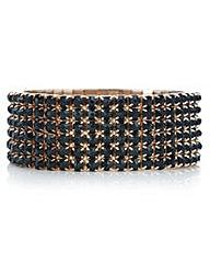 Mood Rose gold black diamante bracelet