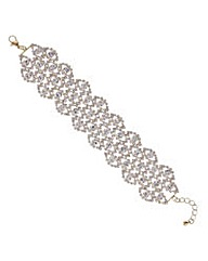 Mood Gold crystal loop link bracelet