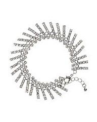 Mood Silver crystal stick bracelet